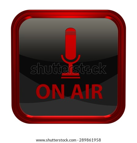 on air square icon on white background