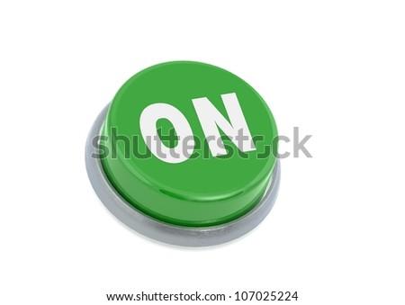 On button - stock photo