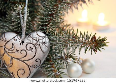 On christmas tree - stock photo