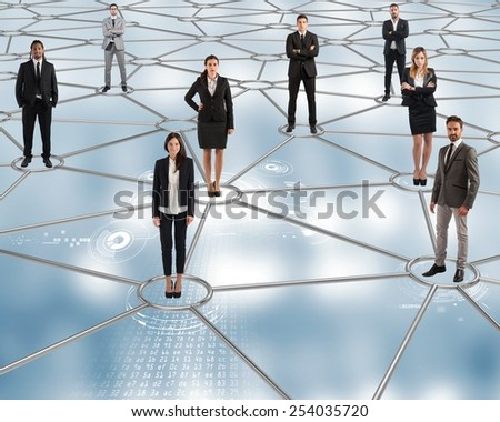 On future social networks are all connected - stock photo