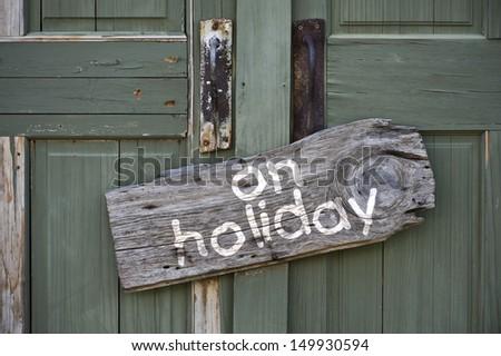 On Holiday. - stock photo