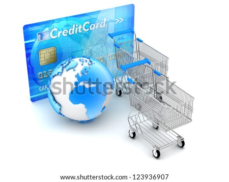 On-line shopping and payments - concept illustration