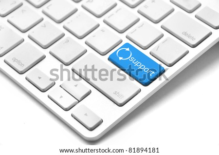 On-line support concept - keyboard with support button