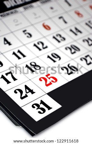 On Monday December 31 will be the last year of 2012, so it deserves a more prominent lighting in this calendar./The last day of 2012 - stock photo