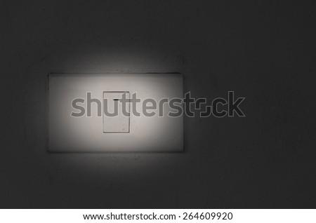 On/Off switch,B&W   - stock photo