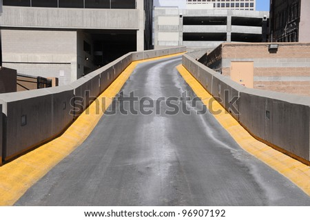 On Ramp for Parking Garage - stock photo