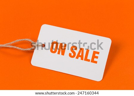 On Sale Tag - stock photo