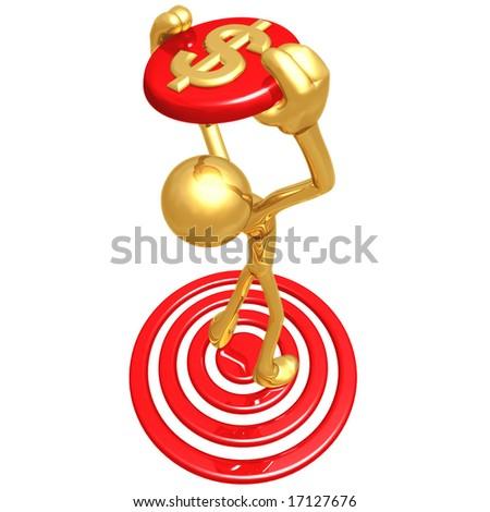 On Target Dollar - stock photo
