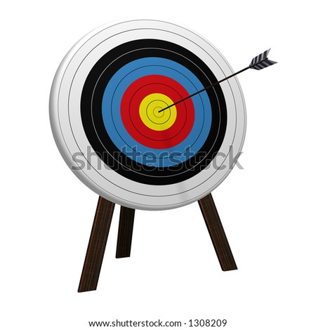 On Target high resolution 3D rendering - stock photo