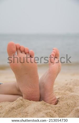 On the beach - stock photo