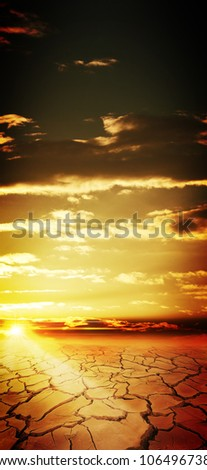 On the end of the Earth, abstract natural backgrounds - stock photo