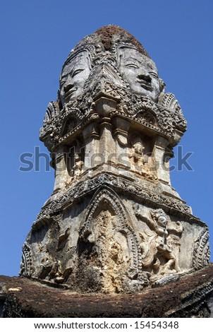 On the gate of wat Phra Si Ratana Mahaphat, Si Satchanalai, Thailand - stock photo