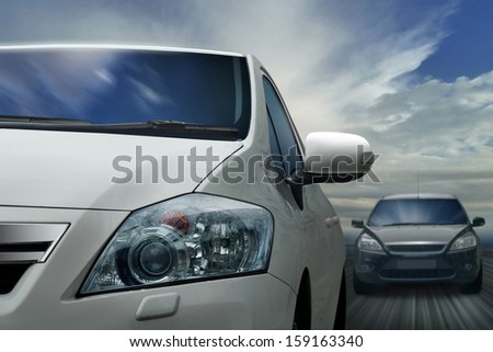 On the Highway - stock photo