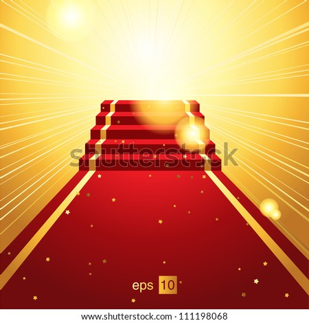 On the red carpet - stock photo