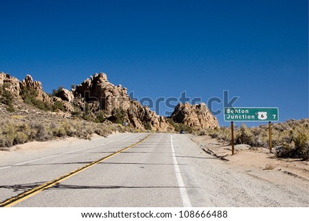 On the road, California - stock photo