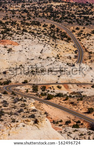 On the road� The Grand Staircase � Escalante on Highway 12, Utah, United States.