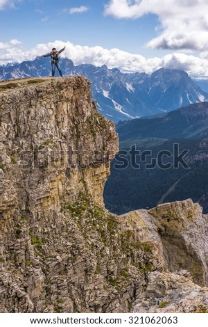 On the Rock Edge in the Dolomite Alps