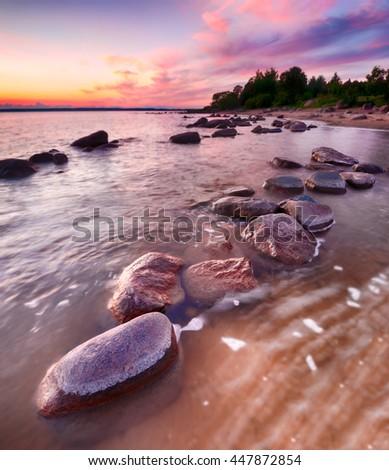 On the shore of Lake Peipsi - stock photo