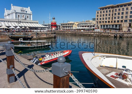 On the Waterfront in Cape Town, South Africa - stock photo