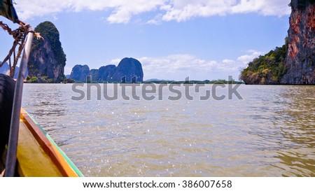 On The Way, Phang Nga Bay National Park, Thailand - stock photo