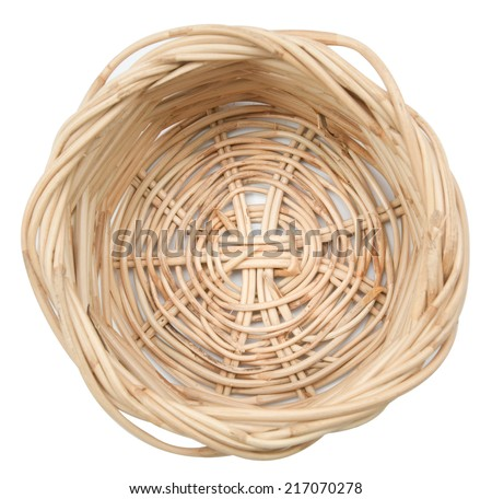 on top Basket  isolated on white,  file includes a excellent clipping path - stock photo