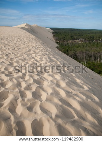On top of Dune of Pyla, Arcachon,  France during summer - stock photo
