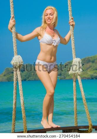 On Water In Bikini   - stock photo