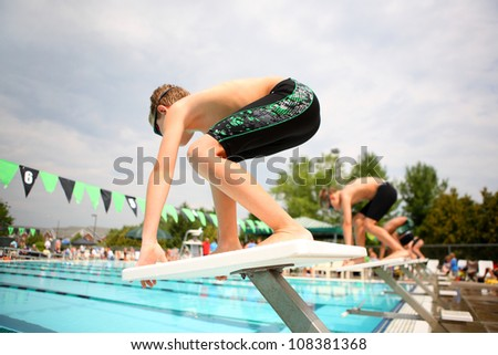 On your marks - stock photo