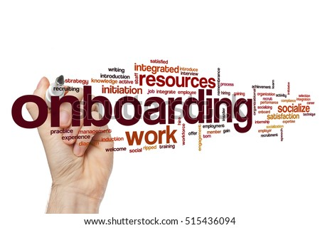 Onboarding word cloud