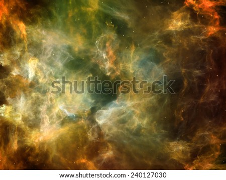 Once Upon a Space series. Arrangement of fractal clouds on the subject of Universe, cosmos, astronomy, science and education - stock photo