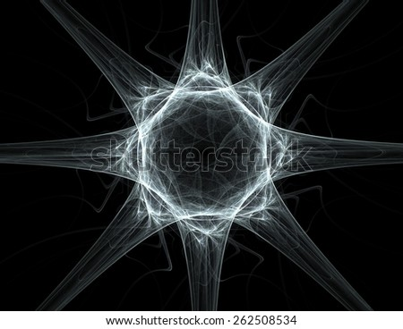 Once Upon a Space series. Background composition of fractal clouds to complement your layouts on the subject of Universe cosmos astronomy science and education - stock photo