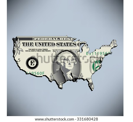 One American Dollar  - stock photo