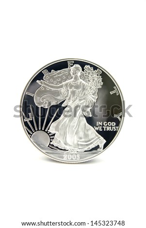 One American Eagle Silver Bullion Coin (legal tender) - stock photo