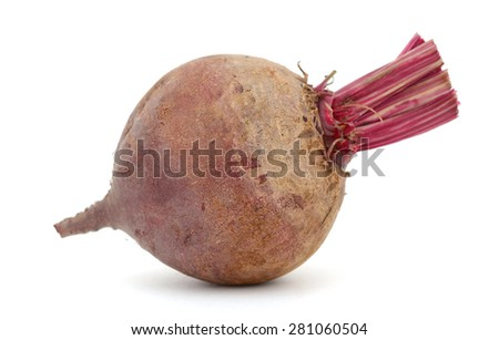 one beetroot on white background  - stock photo