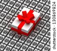 One big present box over other smaller illustration - stock vector