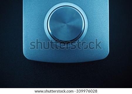 One big wheel of equipment in blue light.  - stock photo