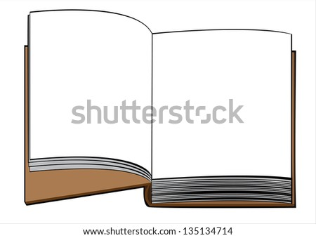 one book  isolated on white background