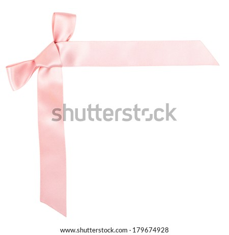 One bow isolated on white background. Stock photo