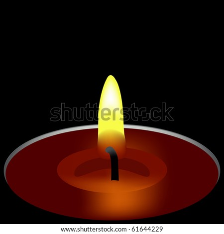 one candle composition, abstract art illustration; for vector format please visit my gallery
