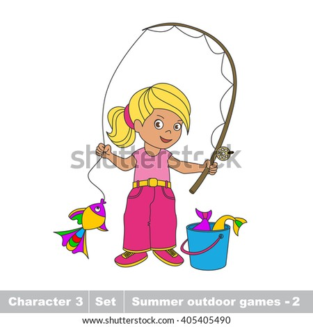 Fisher woman stock images royalty free images vectors for Fishing games for girls