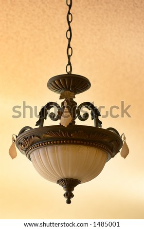One chandelier. More with keyword Group5. - stock photo
