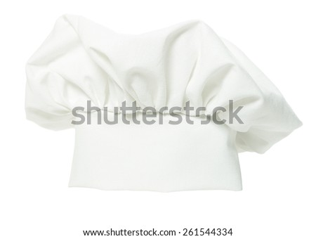 One chef hat isolated on white background   - stock photo