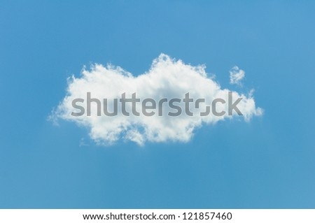 One Cloud In A Bright Blue Sky - stock photo