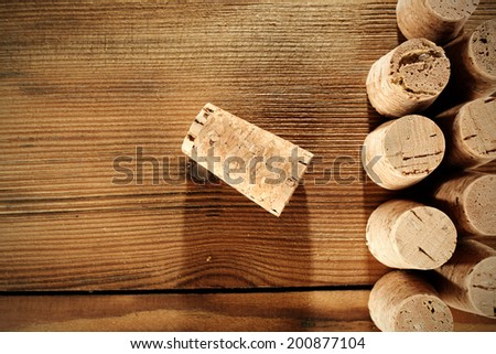 one cork of wine and few  - stock photo