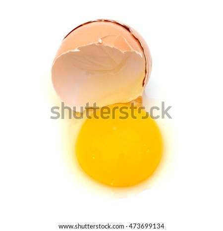One cracked brown egg