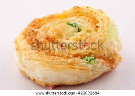 One  Crispy baked  Indian Sweet rolls. - stock photo