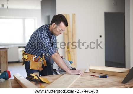 One day from work of carpenter  - stock photo