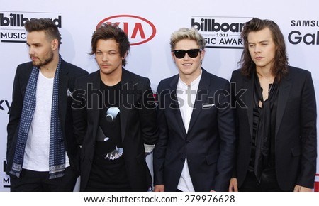 One Direction at the 2015 Billboard Music Awards held at the MGM Garden Arena in Las Vegas, USA on May 17, 2015.  - stock photo