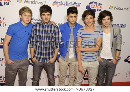 One Direction at the Jingle Bell Ball 2011 held in the O2 Arena, London.  04/12/2011 Picture by: Steve Vas / Featureflash