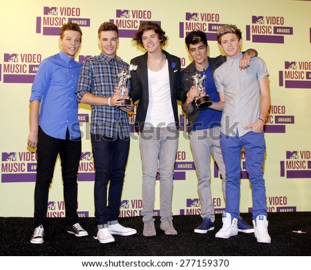 One Direction at the 2012 MTV Video Music Awards held at the Staples Center in Los Angeles, United States on September 6, 2012.